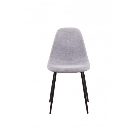 Chaise scandinave avec pieds noir mat