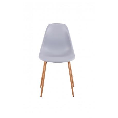 Chaise scandinave avec pieds imitation bois