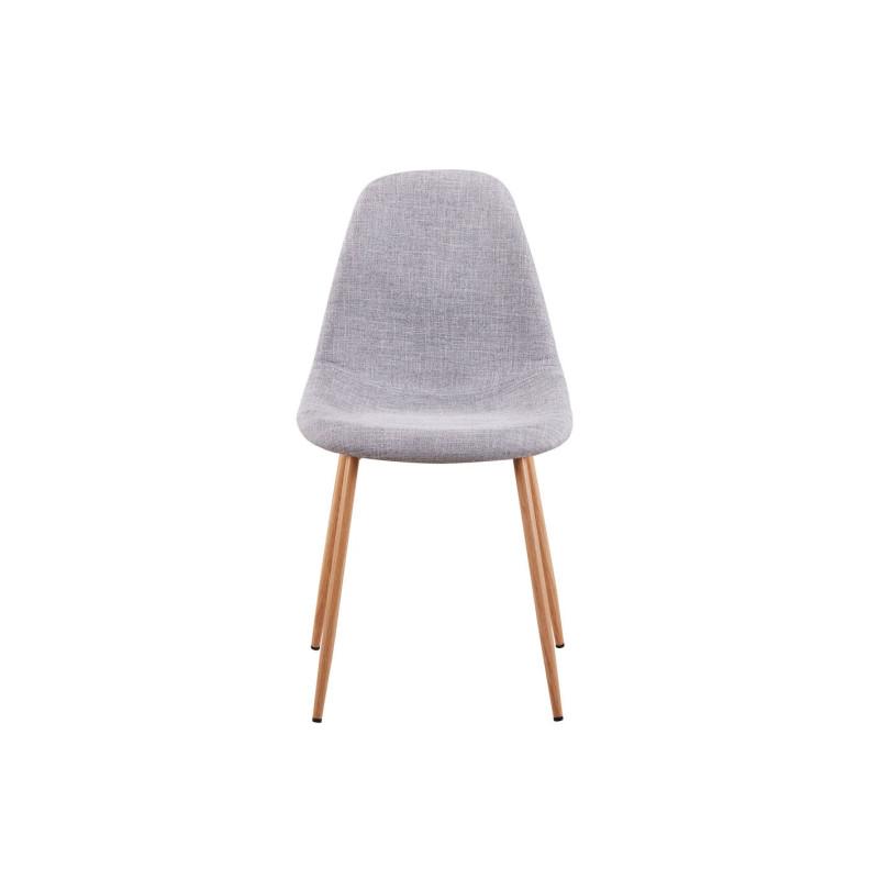 Lot de 2 chaises scandinaves en tissu avec pieds m tal for Chaise avec pied bois