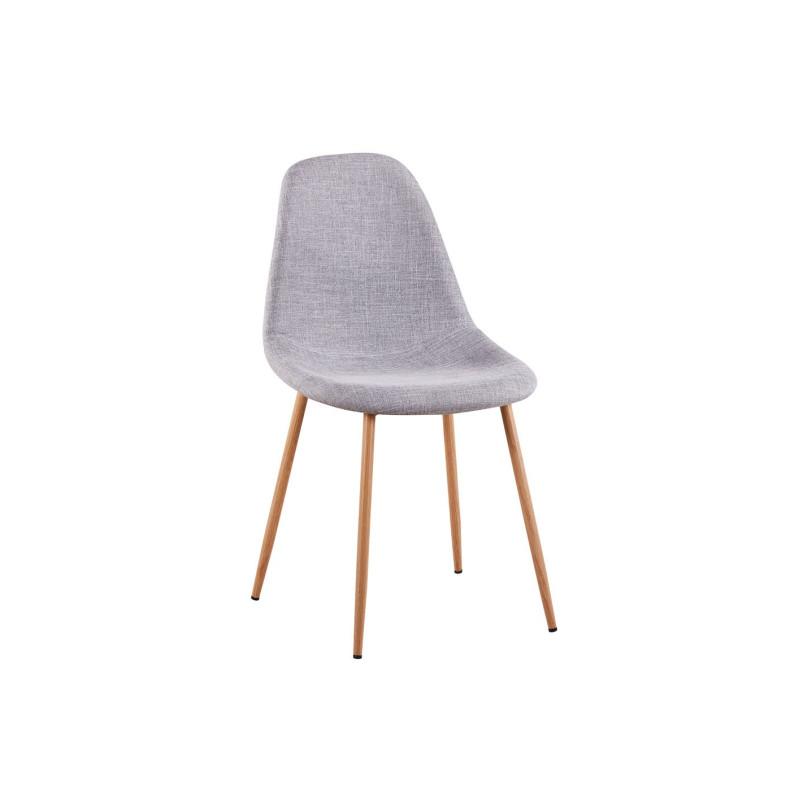 lot de 2 chaises scandinaves en tissu avec pieds m tal imitation bois sajuco. Black Bedroom Furniture Sets. Home Design Ideas