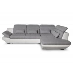 Canapé d'angle convertible avec tiroir de rangement