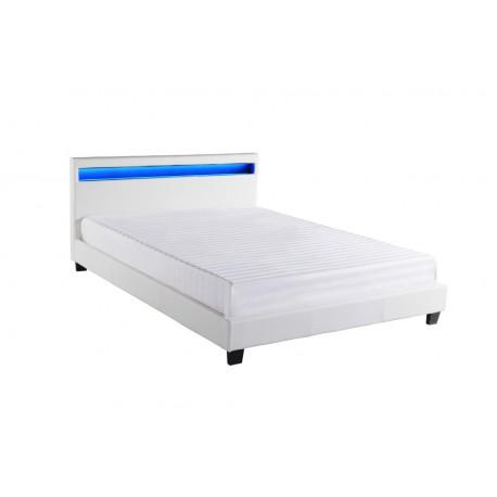 Cadre de lit avec éclairage LED