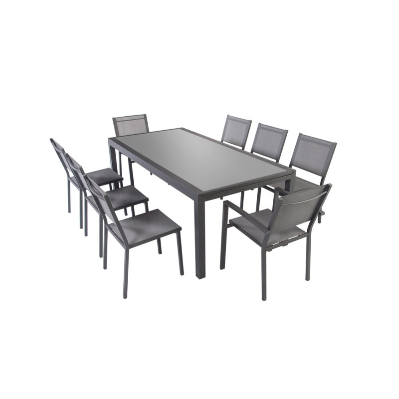 table de jardin extensible sajuco. Black Bedroom Furniture Sets. Home Design Ideas