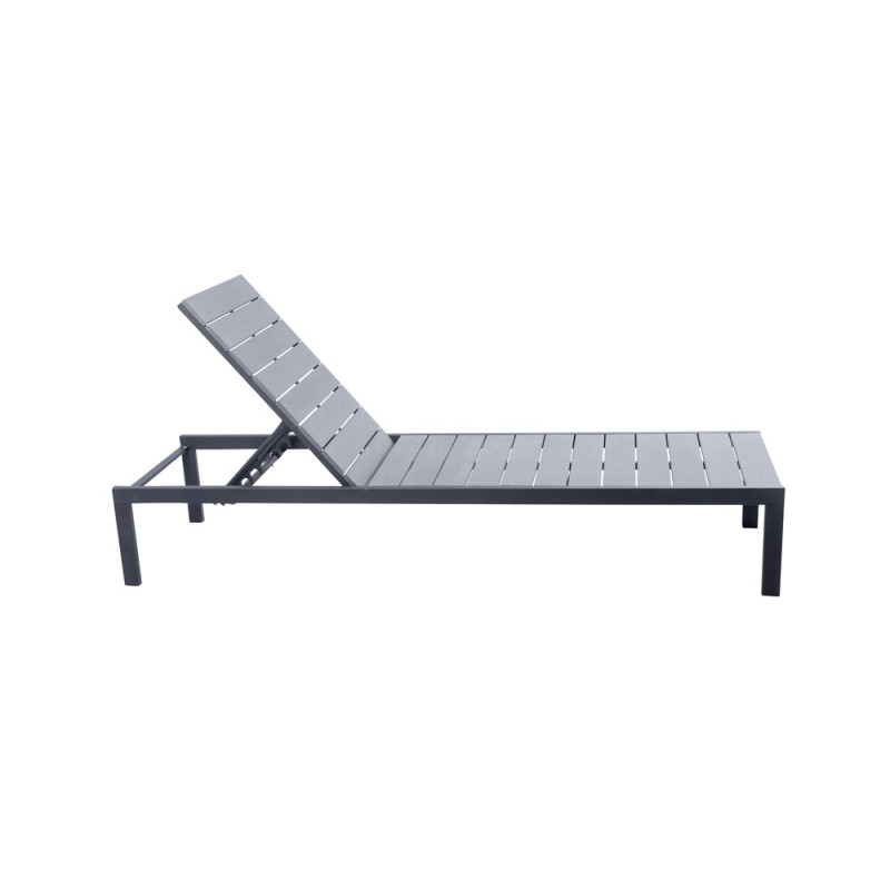 bain de soleil en aluminium et polywood sajuco. Black Bedroom Furniture Sets. Home Design Ideas