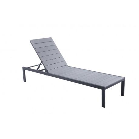 Bain de soleil en aluminium et polywood