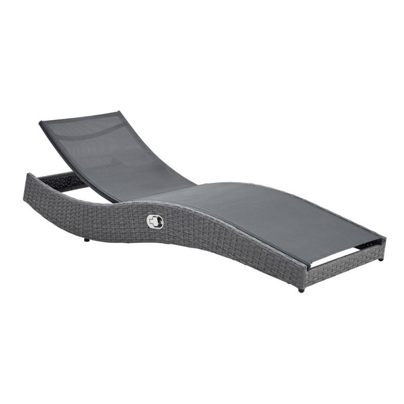 bain de soleil en r sine tress e gris sajuco. Black Bedroom Furniture Sets. Home Design Ideas