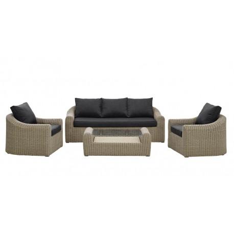 Salon de jardin avec canap et fauteuil sajuco for Canape avec fauteuil