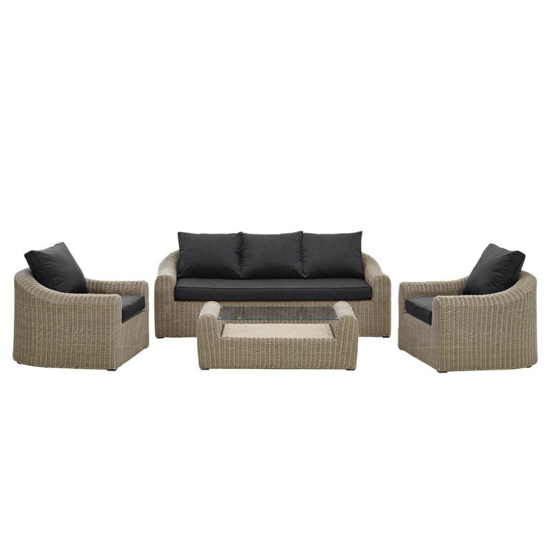 Salon de jardin avec canap et fauteuil sajuco - Salon de jardin avec fauteuil ...