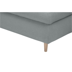 NOAH - Canapé d'angle  convertible en tissu avec coffre