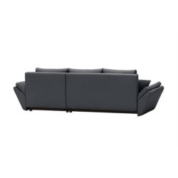 ALIX - Canapé d'angle réversible convertible en tissu avec coffre de rangement
