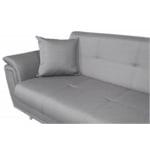 FORTY - Canapé d'angle fixe convertible en tissu et pieds bois