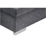GRACE - Canapé d'angle panoramique convertible en tissu