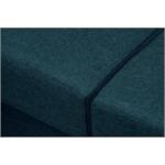 OKTAV - Canapé d'angle panoramique scandinave convertible en tissu