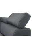 RX032 - Canapé d'angle style scandinave en tissu pieds noirs