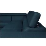 IVY - Canapé d'angle fixe convertible avec coffre en tissu