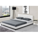1803 - Cadre de lit avec tête de lit et sommier à lattes en simili