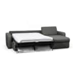 DYLAN - Canapé d'angle convertible système couchage express 3 places en tissu