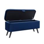 WSS956 - Bout de lit avec rangement en velours