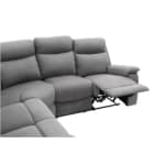 OSSF10 - Canapé de relaxation panoramique 6 places en microfibre