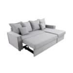 L200PIP - Canapé d'angle réversible convertible coutures larges en tissu