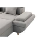 MATEO-U  Canapé scandinave panoramique convertible en tissu