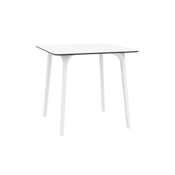 MAYLI - Table carrée 80 cm plateau stratifié HPL pour l'intérieur et l'extérieur