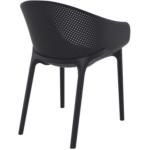BREHAT - Lot de 4 chaises en polypropylène pour l'intérieur et l'extérieur