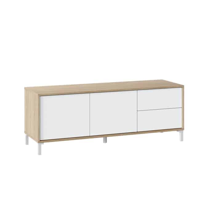 Meuble TV 2 portes et 2 tiroirs L130 cm