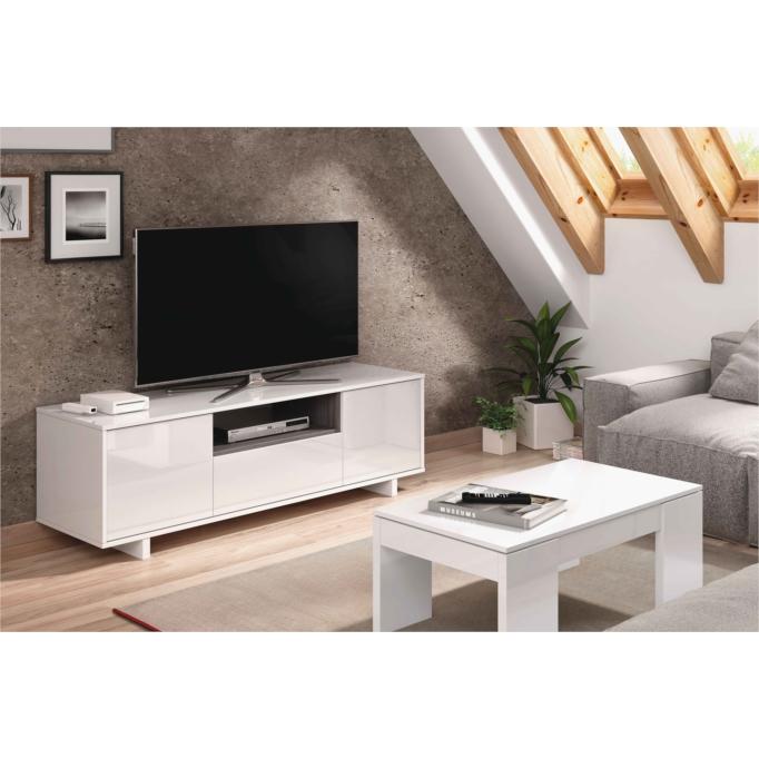 Meuble TV 3 portes et 1 niche L150 cm
