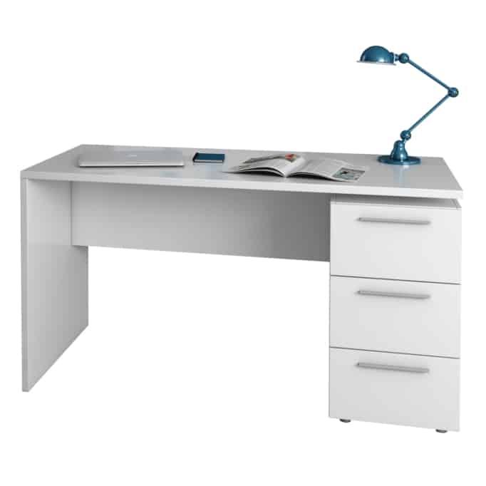 Bureau avec caisson 3 tiroirs L138 cm