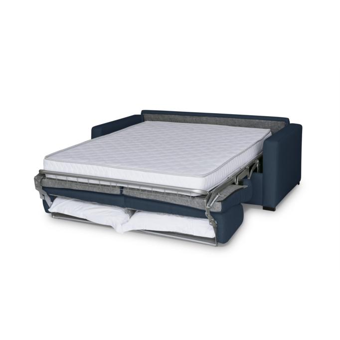 DYLAN PREMIUM - Canapé convertible système couchage express matelas 17cm 3 places en tissu