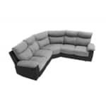 OSSF10 - Canapé de relaxation panoramique 6 places en microfibre et simili