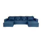 KENZA - Canapé d'angle réversible et convertible en tissu