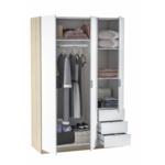 Armoire industrielle 3 portes + 3 tiroirs L121 x H180 cm