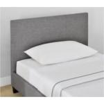 1803 - Cadre de lit avec tête de lit et sommier à lattes en tissu