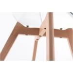 A80511 - Lots de 2 chaises scandinaves en polypropylène transparent