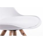 A80262 - Lots de 2 chaises scandinaves en polypropylène coussin simili pieds bois