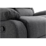 9121 - Canapé de relaxation 2 places en tissu