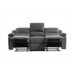 9121 - Canapé de relaxation 3 places en tissu
