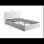1166 - Cadre de lit avec coffre de rangement et tête de lit en simili