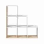Bibliothèque escalier 6 cases L108 x H110 cm