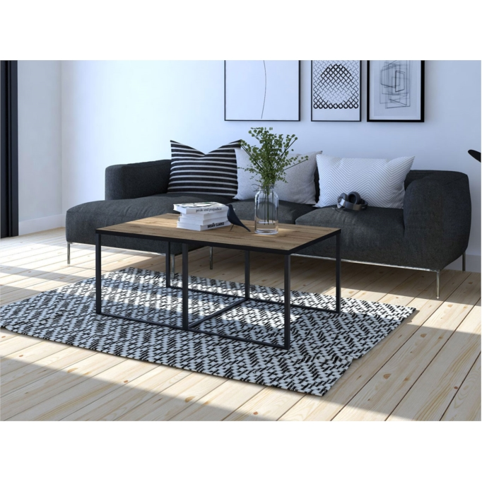 BARRY - Table basse rectangulaire 102 x 67 cm