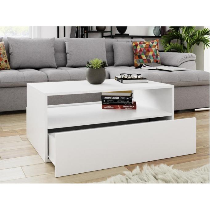 DREK - Table basse 2 tiroirs 90 cm