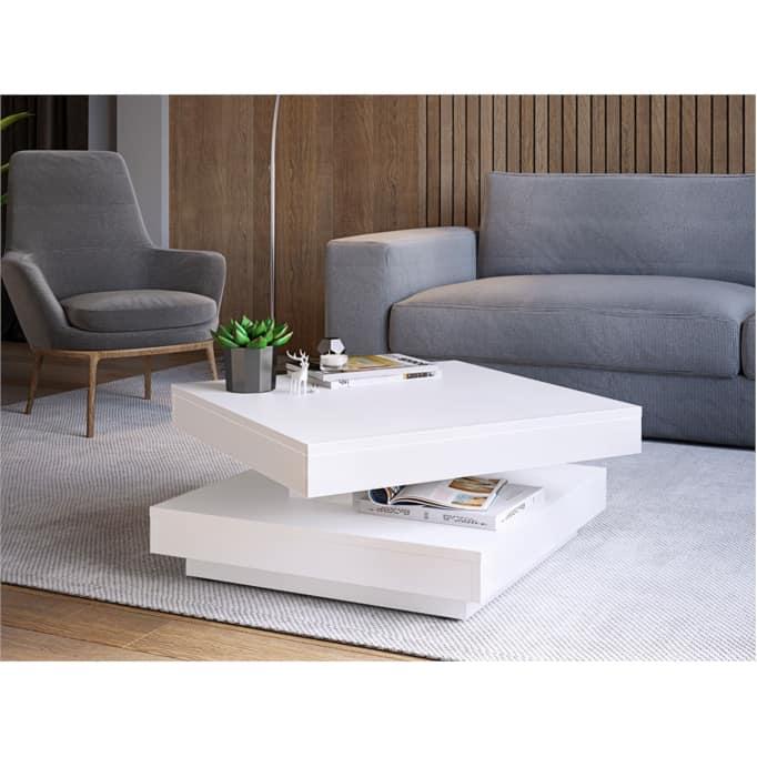 ANNIE - Table basse rotative 70 x 70 cm