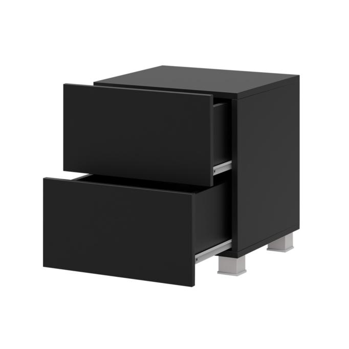 TIAGO - Table de chevet 2 tiroirs