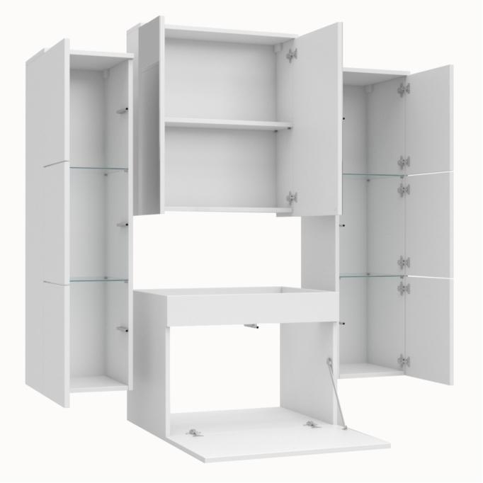 PEDRO - Ensemble de salle de bain 2 colonnes