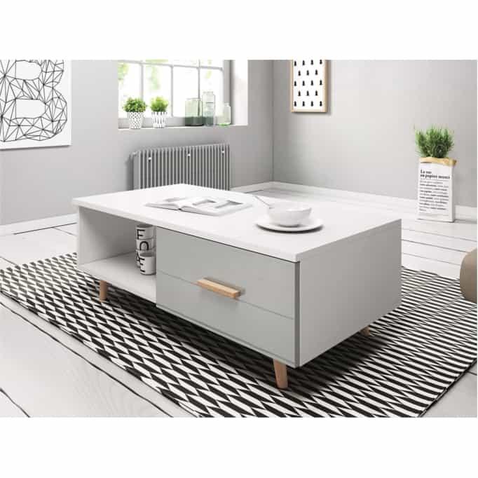 SWEED - Table basse 2 tiroirs 110 cm