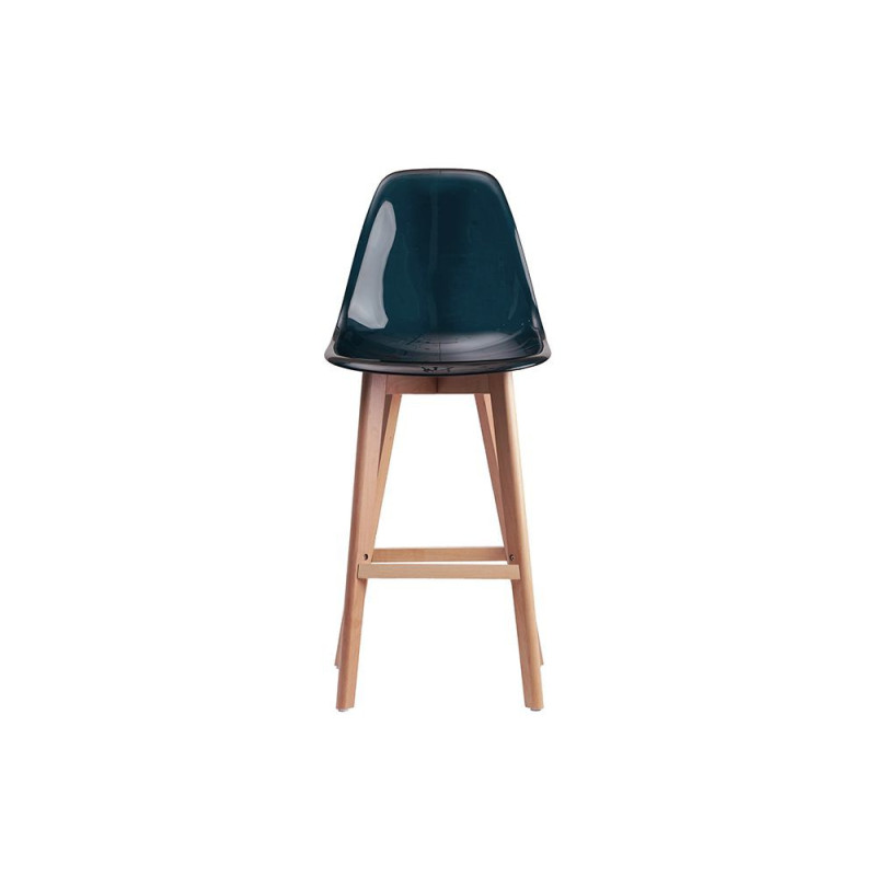 tabouret de bar style scandinave coque transparente sajuco. Black Bedroom Furniture Sets. Home Design Ideas