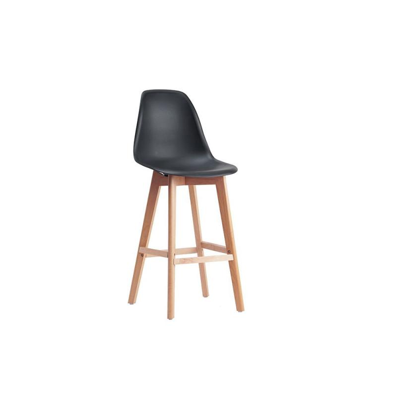 tabouret de bar style scandinave coque plastique sajuco. Black Bedroom Furniture Sets. Home Design Ideas