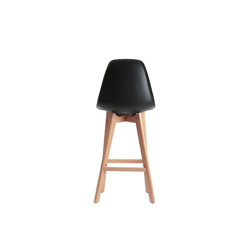 tabouret de bar style scandinave coque plastique sajuco. Black Bedroom Furniture Sets. Home Design Ideas